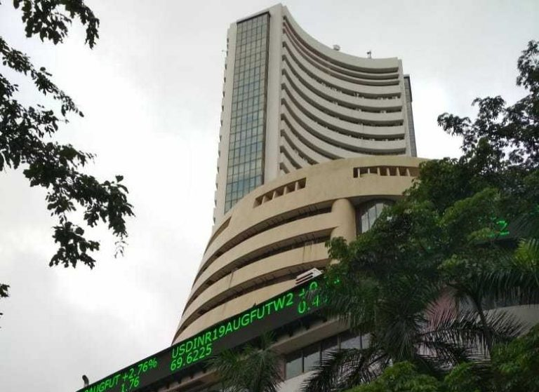 Markets at noon: Sensex, Nifty edge lower as IT, media shares weigh on indices