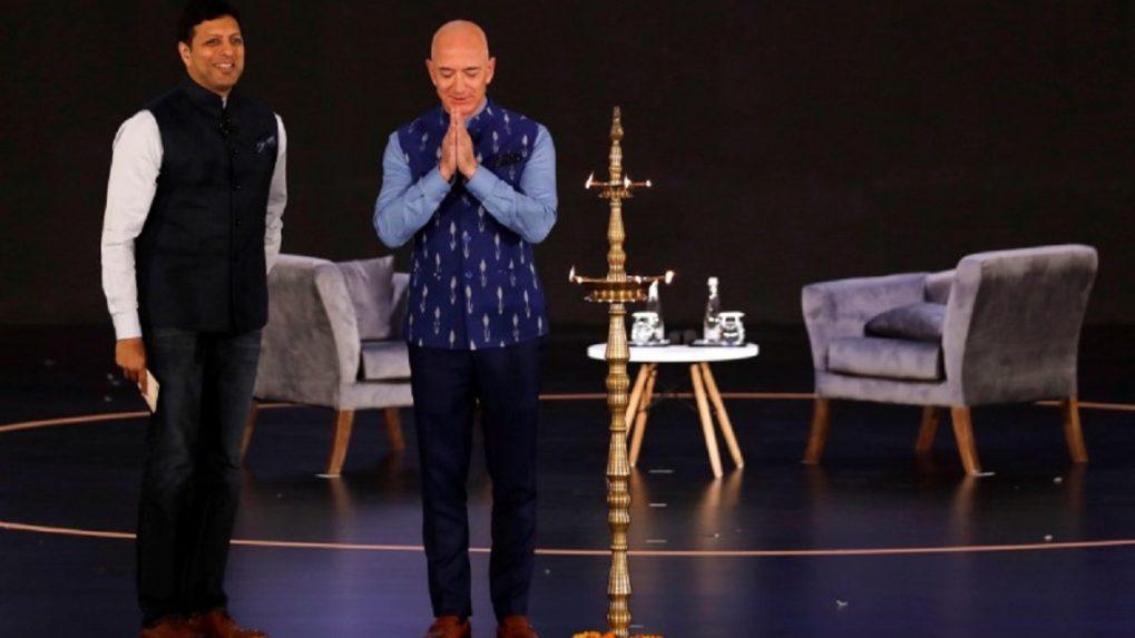 In Pictures: Amazon founder Jeff Bezos at SMBhav summit in Delhi